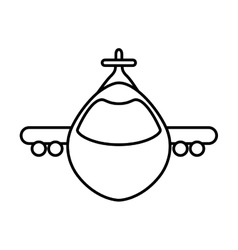 Airplane icon transportation design vector