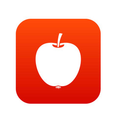 apple icon digital red vector image