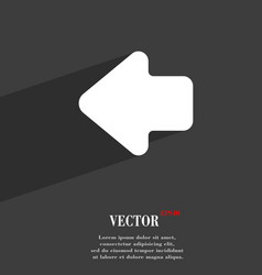 Arrow left Way out icon symbol Flat modern web vector image