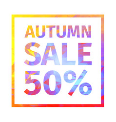 autumn sale 50 percent banner vector image vector image