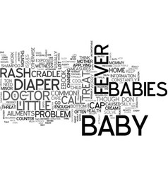 babies minor maladies text word cloud concept vector image vector image