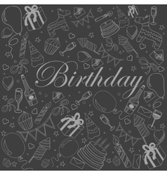Birthday chalk vector image