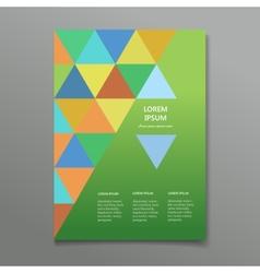 business flyer brochure template vector image