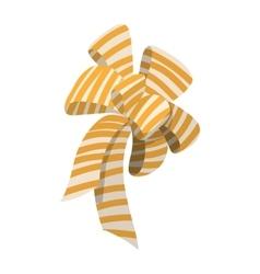Cartoon bow icon vector image