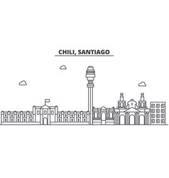 chile santiago architecture line skyline vector image