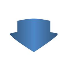 download arrow symbol vector image vector image