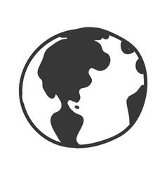 earth planet cartoon vector image
