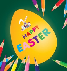 Easter day for egg with pencil sketch on design vector image