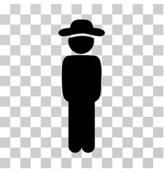 gentleman standing icon vector image