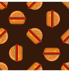 geometric flat burgers seamless pattern vector image vector image