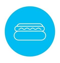 Hotdog line icon vector