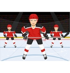 male ice hockey team vector image vector image