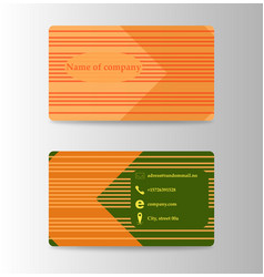modern business card print templates personal vector image vector image
