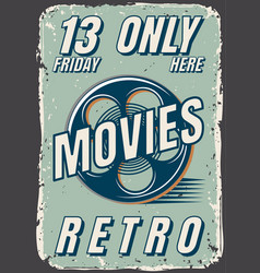 posters of films in retro style vector image vector image
