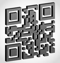 qr code 04 vector image vector image