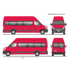 Renault master l4h3 passenger bus 2011 vector