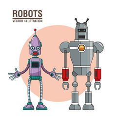 Robots artificial intelligence image vector