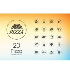 Set of pizza icons vector