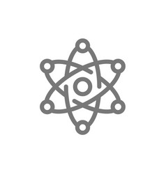 Simple atom and molecule line icon symbol and vector