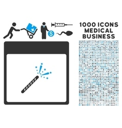 Sparkler firecracker calendar page icon with 1000 vector