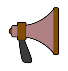 Speaker megaphone loud advertising marketing vector