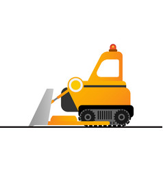 yellow bulldozer on white background mining vector image vector image