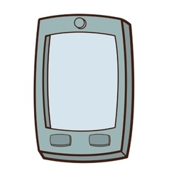 cartoon cellphone icon vector image