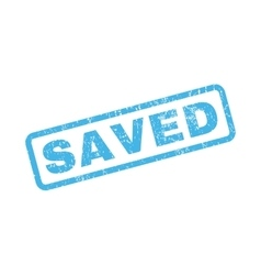 Saved rubber stamp vector