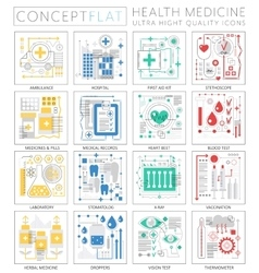 Infographics mini concept Medicine and health vector image
