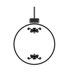 Christmas ball isolated icon vector