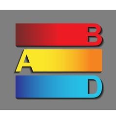 Creative alphabet vector