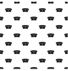 Military hat pattern vector