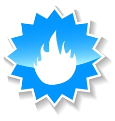 Fire blue icon vector