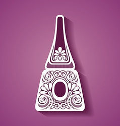 Abstract cosmetic bottle vector