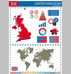 United kingdom graph vector