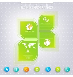 Modern green infographic design  can be used for vector