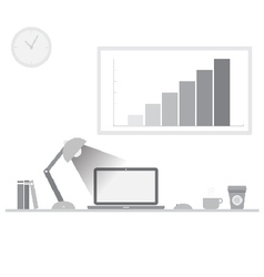 Workspace grey tone vector