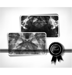 Diamond business cards vector