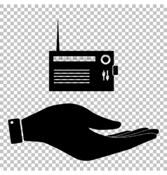 Radio sign flat style icon vector