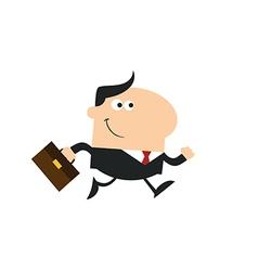 Running Businessman Cartoon vector image