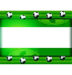 Football soccer panel on green vector