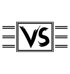 Symbol vs competitors against each other vector