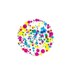 Colored blots cmyk vector