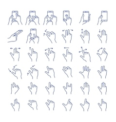 Gesture icon set vector