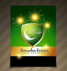 beautiful ramadan festival template vector image vector image