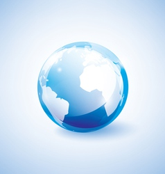 Blue earth vector