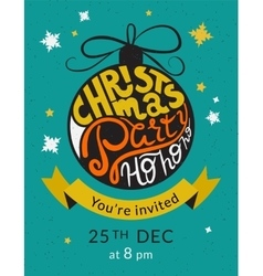 Christmas party invitation template vector image