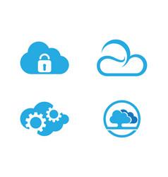 cloud technology logo template design vector image