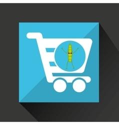 Concept market buy peas vector