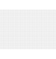 Five millimeters grid on a4 size horizontal sheet vector image vector image